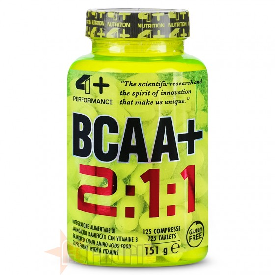 4+ Nutrition Bcaa+ 125 cpr