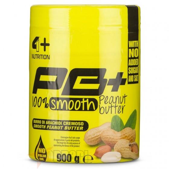 4 Plus Pb+ 100% Smooth Peanut Butter 900 gr