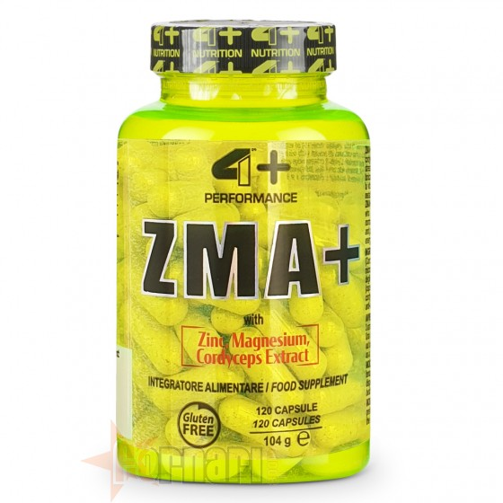 4+ Nutrition Zma+ 120 cps
