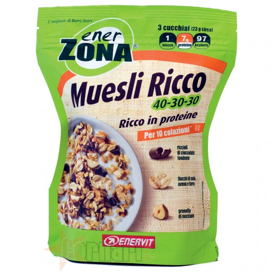 Enerzona Muesli Ricco 40-30-30 230 gr