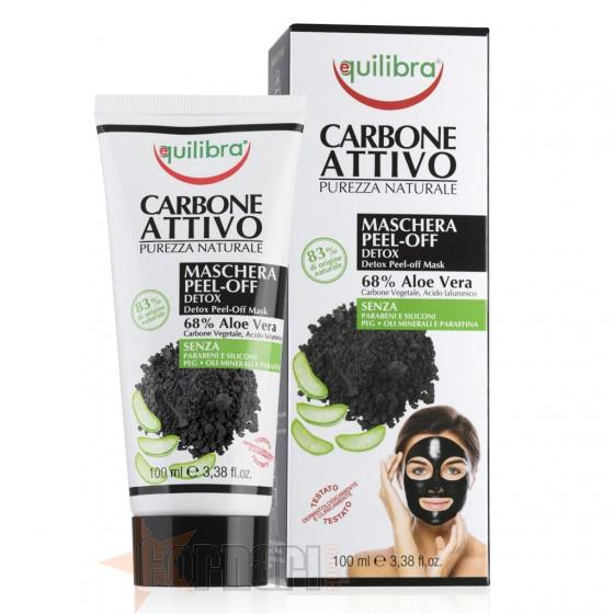 Equilibra Maschera Peel-Off Carbone Attivo 100 ml