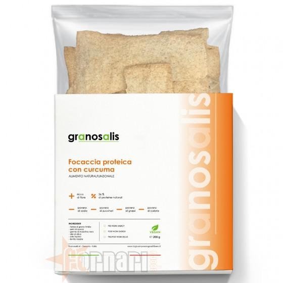 Granosalis Focaccia Proteica con Curcuma 200 gr