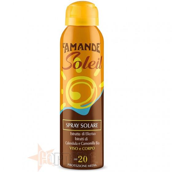 L'Amande Spray Solare Viso e Corpo SPF 20 150 ml