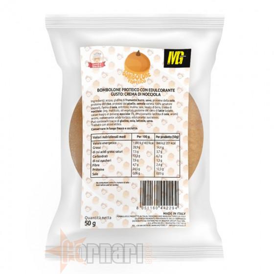 Mg Food Bombolone Proteico con Crema di Nocciola 50 gr