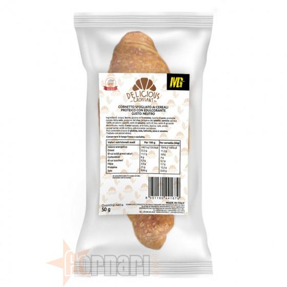 Mg Food Delicious Croissant Sfogliato ai Cereali 50 gr