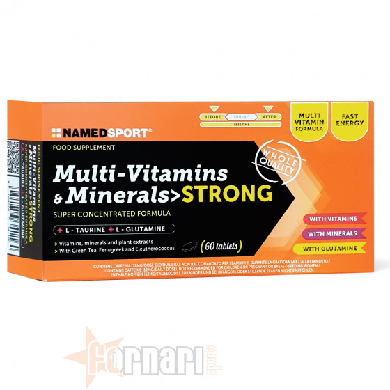 Named Sport Multi-Vitamins & Minerals Strong 60 cpr