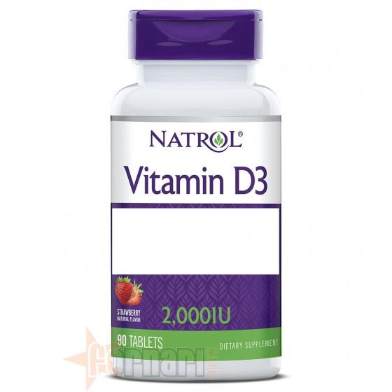 Natrol Vitamin D3 2000 IU 90 cpr
