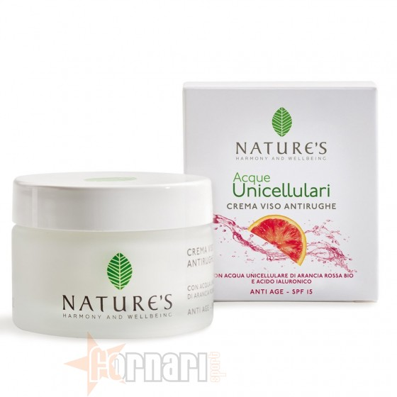 Nature's Acque Unicellulari Crema Viso Antirughe Spf 15 50 ml