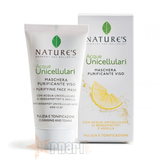 Nature's Acque Unicellulari Maschera Purificante Viso 50 ml