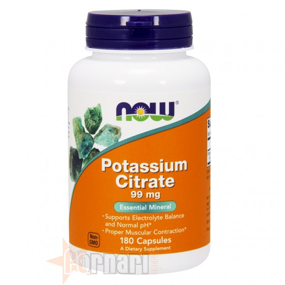 Now Foods Potassium Citrate 180 cps