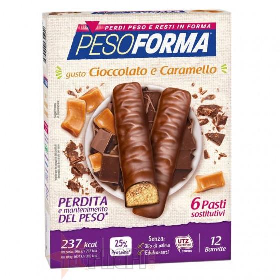 Pesoforma Barrette Cioccolato e Caramello 12 x 31 gr