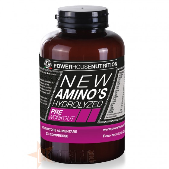 Power House New Amino's Hydrolyzed 200 cpr