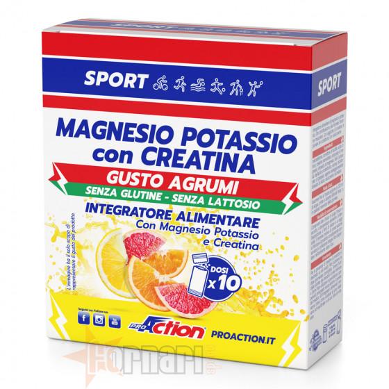 ProAction Magnesio Potassio con Creatina 10 Buste