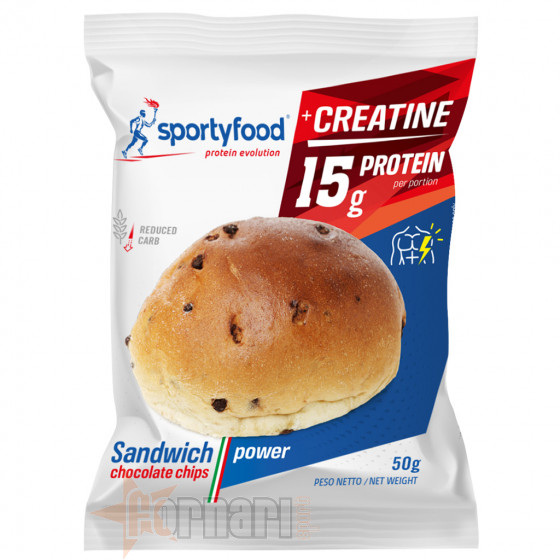 Sportyfood Sandwich Chocolate Chips Power 50 gr