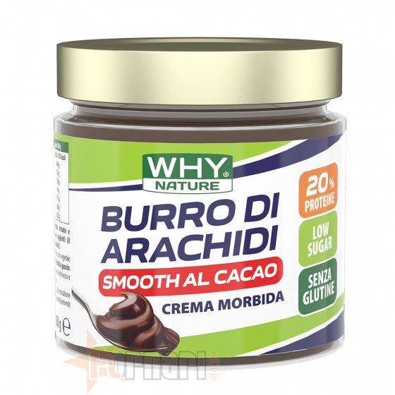 Why Nature Burro di Arachidi Smooth al Cacao 350 gr