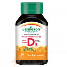 JAMIESON VITAMINA D3 MASTICABILE 100 CPR