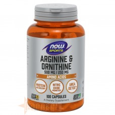 NOW FOODS ARGININE+ORNITHINE 100 CPS