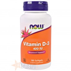 NOW FOODS VITAMINA D-3 400IU 180 PERLE