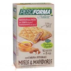 PESOFORMA BISCOTTI INTEGRALI MIELE & MANDORLE 16 X 33 GR