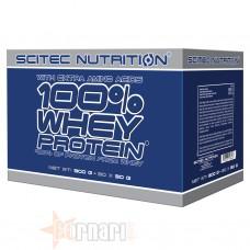 SCITEC 100% WHEY PROTEIN BOX 30 BUSTE DA 30 GR