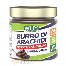 WHY NATURE BURRO DI ARACHIDI SMOOTH AL CACAO 350 GR