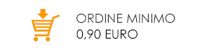 Ordine minimo 0,90 euro